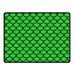 Scales1 Black Marble & Green Colored Pencil (r) Double Sided Fleece Blanket (small)