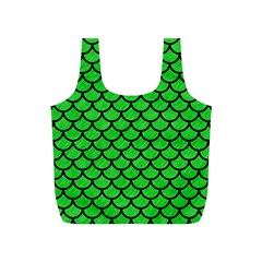Scales1 Black Marble & Green Colored Pencil (r) Full Print Recycle Bags (s)