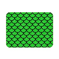 Scales1 Black Marble & Green Colored Pencil (r) Double Sided Flano Blanket (mini)