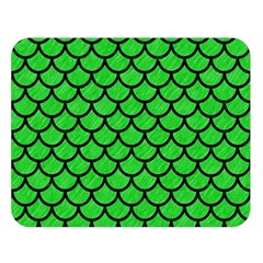 Scales1 Black Marble & Green Colored Pencil (r) Double Sided Flano Blanket (large)