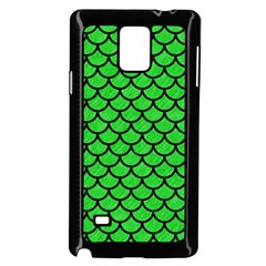 Scales1 Black Marble & Green Colored Pencil (r) Samsung Galaxy Note 4 Case (black)