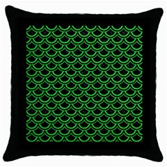 Scales2 Black Marble & Green Colored Pencil Throw Pillow Case (black)