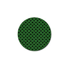 Scales2 Black Marble & Green Colored Pencil Golf Ball Marker (4 Pack)