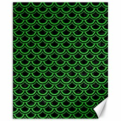 Scales2 Black Marble & Green Colored Pencil Canvas 16  X 20