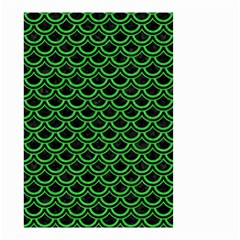 Scales2 Black Marble & Green Colored Pencil Small Garden Flag (two Sides)