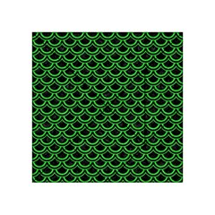 Scales2 Black Marble & Green Colored Pencil Acrylic Tangram Puzzle (4  X 4 )