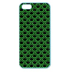 Scales2 Black Marble & Green Colored Pencil Apple Seamless Iphone 5 Case (color)