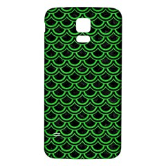 Scales2 Black Marble & Green Colored Pencil Samsung Galaxy S5 Back Case (white)