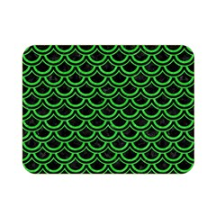 Scales2 Black Marble & Green Colored Pencil Double Sided Flano Blanket (mini)