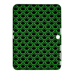 Scales2 Black Marble & Green Colored Pencil Samsung Galaxy Tab 4 (10 1 ) Hardshell Case