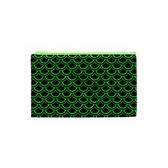 Scales2 Black Marble & Green Colored Pencil Cosmetic Bag (xs)