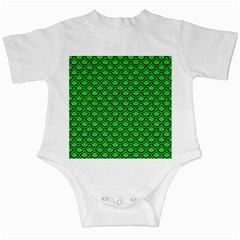 Scales2 Black Marble & Green Colored Pencil (r) Infant Creepers