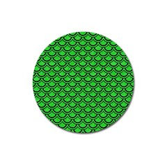 Scales2 Black Marble & Green Colored Pencil (r) Magnet 3  (round)