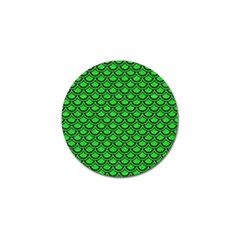 Scales2 Black Marble & Green Colored Pencil (r) Golf Ball Marker