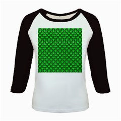 Scales2 Black Marble & Green Colored Pencil (r) Kids Baseball Jerseys