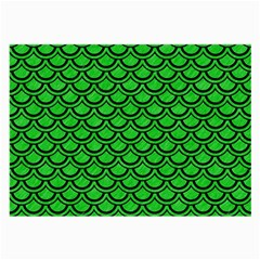 Scales2 Black Marble & Green Colored Pencil (r) Large Glasses Cloth