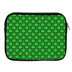 Scales2 Black Marble & Green Colored Pencil (r) Apple Ipad 2/3/4 Zipper Cases