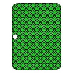 Scales2 Black Marble & Green Colored Pencil (r) Samsung Galaxy Tab 3 (10 1 ) P5200 Hardshell Case