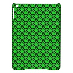 Scales2 Black Marble & Green Colored Pencil (r) Ipad Air Hardshell Cases