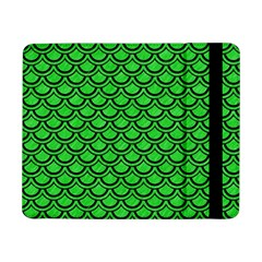 Scales2 Black Marble & Green Colored Pencil (r) Samsung Galaxy Tab Pro 8 4  Flip Case