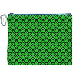 Scales2 Black Marble & Green Colored Pencil (r) Canvas Cosmetic Bag (xxxl)