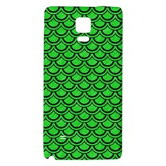 Scales2 Black Marble & Green Colored Pencil (r) Galaxy Note 4 Back Case
