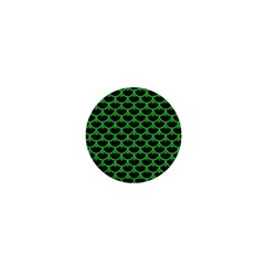 Scales3 Black Marble & Green Colored Pencil 1  Mini Magnets