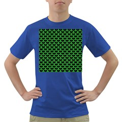 Scales3 Black Marble & Green Colored Pencil Dark T Shirt