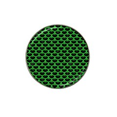 Scales3 Black Marble & Green Colored Pencil Hat Clip Ball Marker (10 Pack)