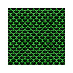 Scales3 Black Marble & Green Colored Pencil Acrylic Tangram Puzzle (6  X 6 )