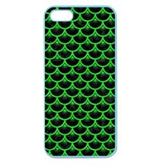Scales3 Black Marble & Green Colored Pencil Apple Seamless Iphone 5 Case (color)