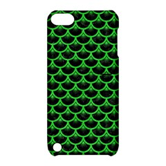 Scales3 Black Marble & Green Colored Pencil Apple Ipod Touch 5 Hardshell Case With Stand