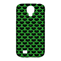 Scales3 Black Marble & Green Colored Pencil Samsung Galaxy S4 Classic Hardshell Case (pc+silicone)