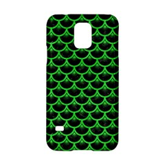 Scales3 Black Marble & Green Colored Pencil Samsung Galaxy S5 Hardshell Case