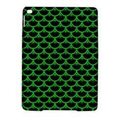 Scales3 Black Marble & Green Colored Pencil Ipad Air 2 Hardshell Cases