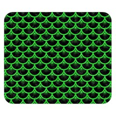 Scales3 Black Marble & Green Colored Pencil Double Sided Flano Blanket (small)