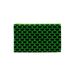 Scales3 Black Marble & Green Colored Pencil Cosmetic Bag (xs)