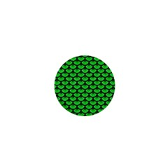 Scales3 Black Marble & Green Colored Pencil (r) 1  Mini Magnets