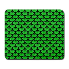 Scales3 Black Marble & Green Colored Pencil (r) Large Mousepads