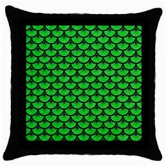Scales3 Black Marble & Green Colored Pencil (r) Throw Pillow Case (black)