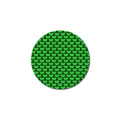 Scales3 Black Marble & Green Colored Pencil (r) Golf Ball Marker (10 Pack)