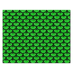 Scales3 Black Marble & Green Colored Pencil (r) Rectangular Jigsaw Puzzl