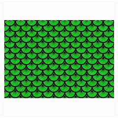 Scales3 Black Marble & Green Colored Pencil (r) Large Glasses Cloth (2 Side)