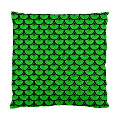 Scales3 Black Marble & Green Colored Pencil (r) Standard Cushion Case (one Side)