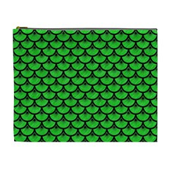 Scales3 Black Marble & Green Colored Pencil (r) Cosmetic Bag (xl)