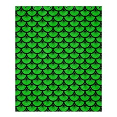 Scales3 Black Marble & Green Colored Pencil (r) Shower Curtain 60  X 72  (medium)