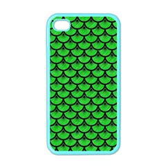 Scales3 Black Marble & Green Colored Pencil (r) Apple Iphone 4 Case (color)