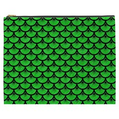 Scales3 Black Marble & Green Colored Pencil (r) Cosmetic Bag (xxxl)
