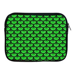 Scales3 Black Marble & Green Colored Pencil (r) Apple Ipad 2/3/4 Zipper Cases