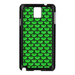 Scales3 Black Marble & Green Colored Pencil (r) Samsung Galaxy Note 3 N9005 Case (black)